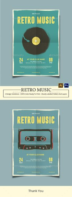 Retro Music Flyer Template — PSD Template #inspiration #pop #poster • Download ➝ https://graphicriver.net/item/retro-music-flyer-template/18612552?ref=pxcr