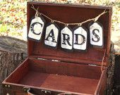 i want to do this type of thing (card sign) but with that antique mail thing we just got :)