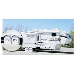 TCU Horned Frogs White Exact Fit Tire Shade w/ Security Grommets