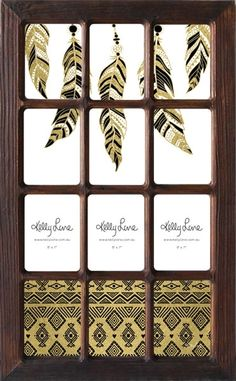 12 collage wall photo frame feather 14995