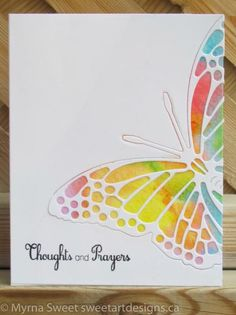 butterfly die cut 1/4 by mjs1033 - Cards and Paper Crafts at Splitcoaststampers