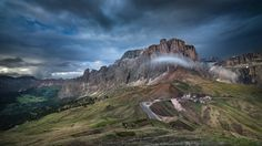 Dolomites in the clouds. by Maxim K.            It's a beautiful June day. Waiting for the rain. 2017.            Maxim K.: Photos                                 #nature #photography