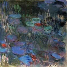Water Lilies, Reflections of Weeping Willows (right half) : Claude Monet : Impressionism : flower painting - Oil Painting Reproductions Flower Painting, Claude Monet Water Lilies, Joy Art, Painting, Impressionist Paintings, Oil Painting, Painting Reproductions, Art, Monet Water Lilies