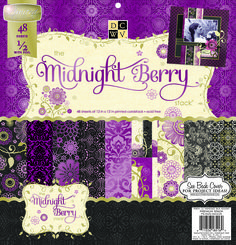 Die Cuts With A View Premium Cardstock Stack Black Currant, , hi-res