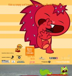 Happy Tree Friends The Movie Happy Tree Friends Flippy, Gifs, 3d, Movies, Poster, Films, Film Books, Presents, Movie Theater