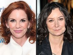 sara gilbert - on the right.... left is her sister, who's not gay... only good picture.