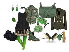 """""""urban green"""" by marginangel ❤ liked on Polyvore"""