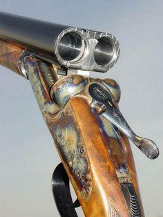 In the Field -The Sporting Life. Side By Side Shotgun, The Sporting Life, Gun Art, Guns And Roses, Firearms, Shotguns, Double Barrel, Custom Guns, Hunting Blinds