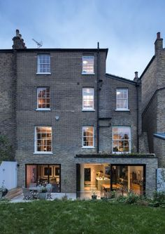 Stockwell Park Road / David Mikhail Architects - Visited during construction as a student! London Architecture, Residential Architecture, Interior Architecture, Interior Design, Victorian Terrace House, Victorian Homes, London Property, London House, House Extensions
