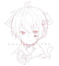 埋め込み Kawaii Anime, Kawaii Art, Kawaii Drawings, Art Drawings, Anime Boy Sketch, Neko Boy, Ichimatsu, Anime Couples Manga, Cute Anime Boy