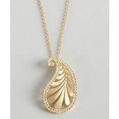 Tiffany & Co. Paloma Picasso Diamond And Gold 'villa Paloma' Palm Pendant Necklace found on Polyvore