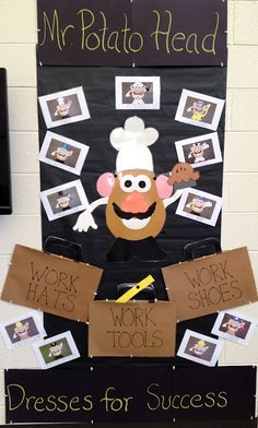 Career lessons/community helpers using Mr Potato Head! Counseling Activities, Career Counseling, Career Education, Career Exploration, Physical Education, Special Education, Learning Activities, Teaching Ideas, Elementary School Counseling