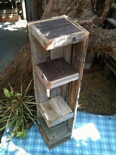 Rustic Barnwood 4 Corner Shelf FREE by backwooddesign on Etsy, $45.00