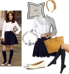 """Blair Waldorf Uniform"" by emily-udall on Polyvore"