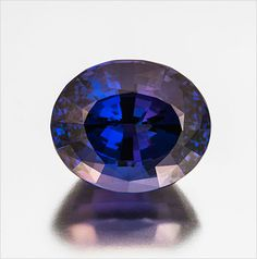 Blue Christmas? Oval cut tanzanite, 45.10 carats, 22.57 x 18.69 x 15.44 mm, heated. Inventory #362. This stone was custom-cut by Bernd Cullman, Idar-Oberstein, Germany. (Photo: Mia Dixon)