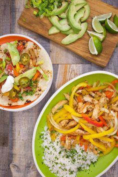 Have some flambé fun with this fajitas en fuego recipe. It includes spiced chicken, peppers, and tequila!