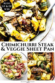 Dairy Free Recipes, Paleo Recipes, Healthy Dinner Recipes, Low Carb Recipes, Healthy Meals, Macro Meals, Chimichurri, Tender Steak, Easy Weeknight Meals