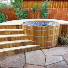 Image result for wooden hot tub