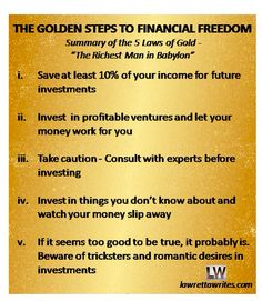 The five laws of Gold