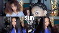 How I Achieve A Flat V/ U Part Wig: Start to Finish Application - YouTube