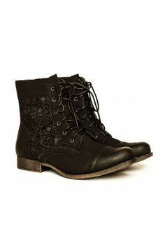 Lace Boot in Black