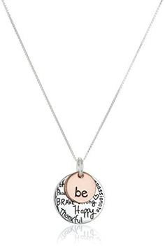 Two-Tone-Sterling-Silver-Be-Graffiti-Charm-Necklace-18