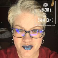 To layer with Limited Edition LipSense lipcolors by SeneGence means to create your own custom lipsense combinations. YOU get to pick the colors and shades to layer for the perfect diy color. So MIX IT UP!! Unlimited number of mixes can be created! For THIS lipcolor layer: Mod Magenta