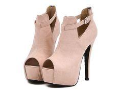 Cute Apricot Peep Toe High Heel Platform Pumps find more women fashion ideas on www.misspool.com