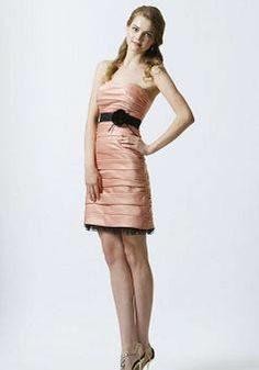 Sheath/ Column Satin Empire Scoop With Ruching Bridesmaids - Angeldress.co.uk