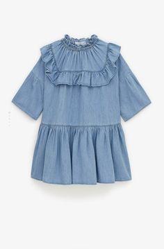 Arquivo: Vestido de alças com folhos 34 anos da Zara oferta