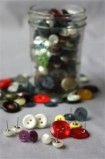 Simple Button earrings    Turning found objects in to wearable art. Button earring are really simple and very cute. Look for vintage or unique buttons to really draw the eye.