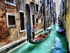 One of these days I will be in Venice taking in a leisurely ride in a gondola.