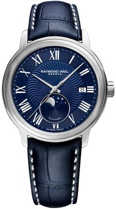 Raymond Weil Watch Maestro #add-content #basel-18 #bezel-fixed #bracelet-strap-leather #brand-raymond-weil #case-material-steel #case-width-40mm #cws-upload #date-yes #delivery-timescale-call-us #dial-colour-blue #discount-code-allow #gender-mens #luxury #missing-supplier-info #moon-phase-yes #movement-automatic #new-product-yes #official-stockist-for-raymond-weil-watches #packaging-raymond-weil-watch-packaging #style-dress #subcat-maestro #supplier-model-no-2239-stc-00509
