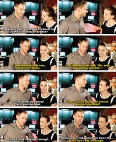 FB Q&A FitzSimmons reveal that they are aexh others favorite cast member to work with and that doing scenes together is like right at Home.