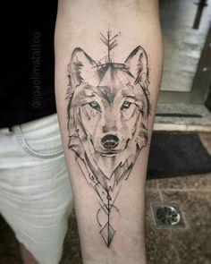 Wolf Tattoos 91315 Wolf tattoos: several beautiful images for inspiration - Wolf tattoos: several . - Wolf tattoos: several beautiful images for inspiration - Wolf tattoos - Kurt Tattoo, Tattoo L, Body Art Tattoos, Tattoo Drawings, Hand Tattoos, Circle Tattoos, Fish Tattoos, Chest Tattoo, Mandala Tattoo