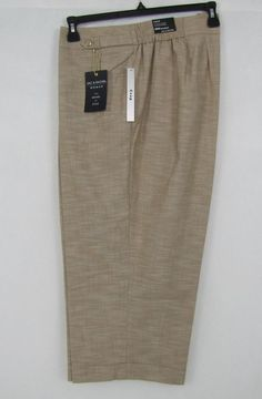 Zac & Rachel Capri Women's Side Elastic Safari Capri Plus Size 20W NEW #ZacRachel #CaprisCropped 24.99
