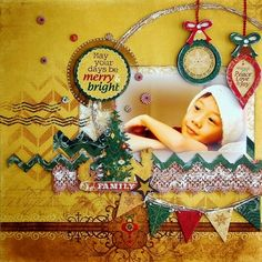 Scrapperlicious: Merry and Bright layout by Irene Tan using BoBunny Rejoice collection.