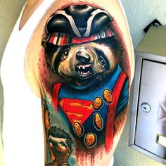 Awesome Tattoos Of Famous '80s Movie Characters Depicted As Sloths - DesignTAXI.com