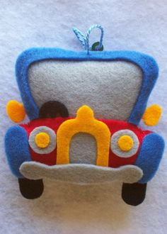 Fans of Carolyn DeAngelis Felt Ornaments: car