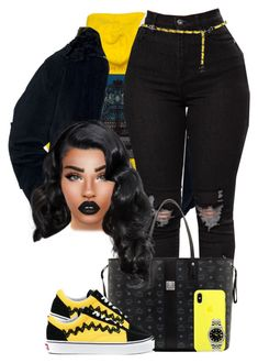 """""""What's Going On?"""" by chiamaka-ikaraoha ❤ liked on Polyvore featuring M.Y.O.B., MCM, Vans, Rolex and Chanel"""