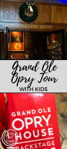 The Grand Ole Opry Tour with kids, including tour options, what to expect, where to eat, and where to stay. Ski Vacation, Family Vacation Destinations, Amazing Destinations, Vacation Ideas, Travel Destinations, Travel With Kids, Family Travel, Visit Nashville, Nashville Vacation