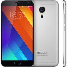 """Meizu MX5 - Smartphone de 5.5"""" (Helico X10 MTK6795T 64bit Octa Core 2.2 GHz, 3 GB de RAM, 16 GB de ROM, cámara frontal de 5 Mp y trasera de 20.7 Mp, Android 5.0) negro y plateado"""