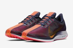 Nike Gives the Zoom Pegasus 35 Turbo a Crimson-Accented Racing Look: Continuing its running focus. Nike Runners, Nike Zoom Pegasus, Running Shoes For Men, Workout Gear, Casual Shoes, Nike Men, Nike Air Max, Men's Shoes, Athletic Shoes