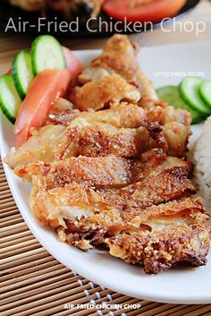 Little Inbox Recipe ~Eating Pleasure~: Air-Fried Chicken Chop (Air-Fryer Recipe) 炸鸡扒 fried chicken recipe Halogen Oven Recipes, Nuwave Oven Recipes, Actifry Recipes, Fish Recipes, Chicken Recipes, Avocado Recipes, Asian Recipes, Phillips Air Fryer, Cooks Air Fryer