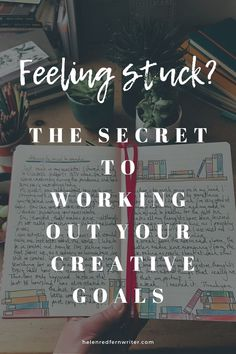 The Secret To Working Out Your Creative Goals.     Writing in my journal has helped me identify what I want to do with my creativity and how to turn my writing and creativity into a business. Feeling Stuck, Feeling Overwhelmed, My Journal, The Secret, I Respect You, Myself Essay, Creating A Business, Goals, Start Writing