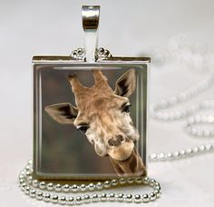 Giraffe Jewelry Giraffe Necklace Giraffe Charm by vintagewithflair, $8.95