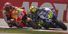 Tout au long de sa carrière, et particulièrement en catégorie-reine, Valentino Rossi, actuel leader du championnat en MotoGP, a su se transcender lorsqu'un adversaire lui barrait la route.