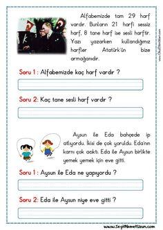 OKUMA ANLAMA – KISA OKUMA ANLAMA METNİ 2 KISA OKUMA ANLAMA METNİ 2 – Okuma anlama şiiri Özgün bir çalışma olarak pdf formatında hazırlanmıştır. Sitede..