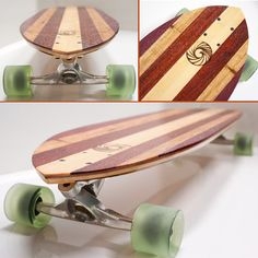 Diamondtail Longboard Cruiser Skateboard Deck by MakaiProject, $150.00