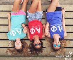 Long hair, big tanks, don't care | Alpha Phi | Made by University Tees | www.universitytees.com